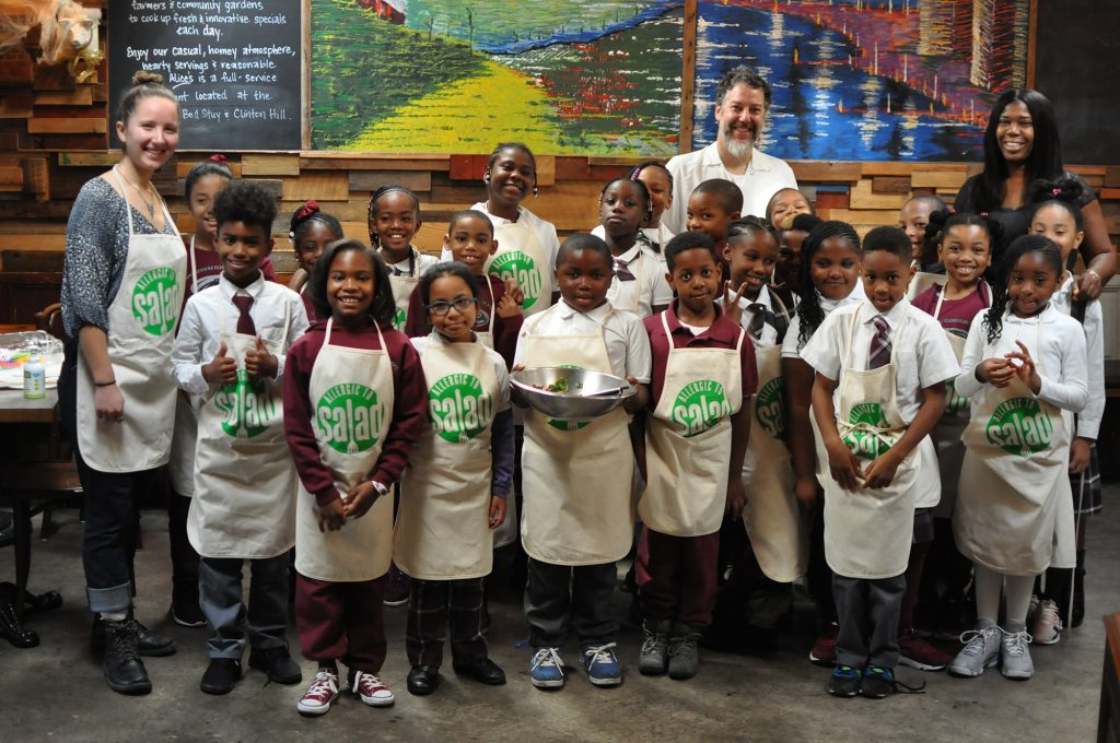 Allergic to Salad class with Crispus Attucks students