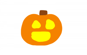 Smiley face halloween pumpkin jack o'lantern